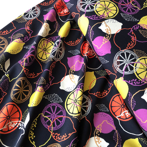 REMNANT 0.67 meter Danish Design - Sweet Lemons Cotton Jersey