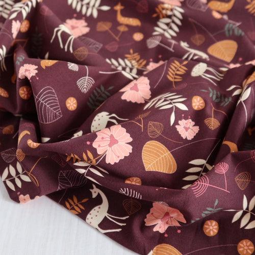 Danish Design - Natural Forest Cotton Jersey Fabric