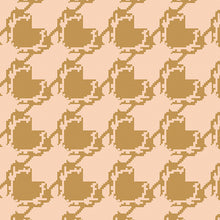 Art Gallery Fabrics - Blithe Deer Houndstooth in Tan / Pink