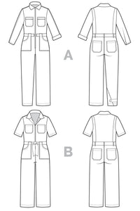 Closet Core - Blanca Flight Suit Sewing Pattern