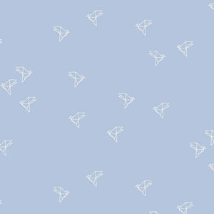 Atelier Brunette - Bye Bye Birdie Blue Jean Cotton Cambric dress fabric