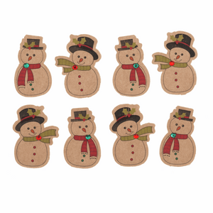 Festive Snowman Stickers - for cards, gift bags or table scatter decorations