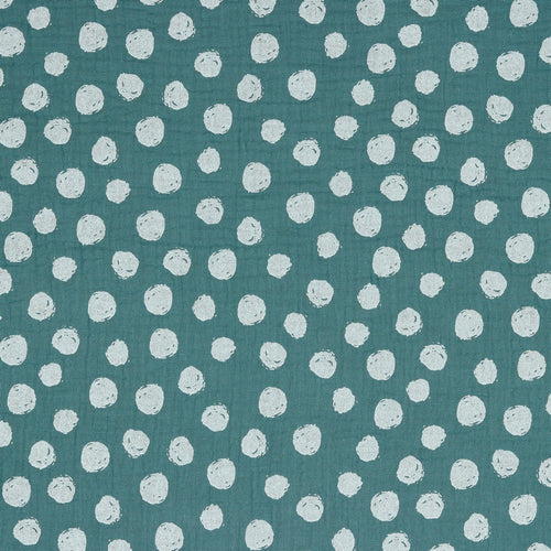 Dots Old Green Organic Double Gauze