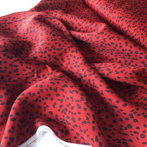 Speckles Cider Red Viscose / Rayon Dress Fabric
