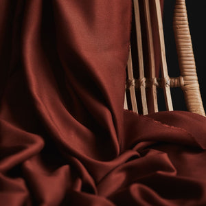 Mind The MAKER - Solid Sienna ECOVERO™ Viscose Twill Fabric