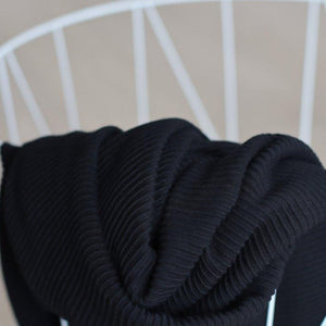 Meet MILK - Self Stripe Ottoman Knit Black