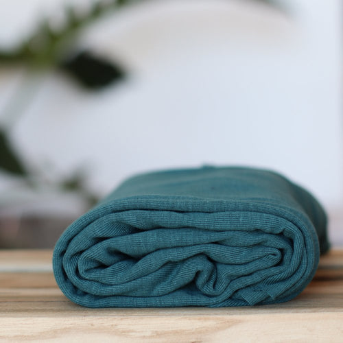 Meet MILK - Fine Rib Jersey in Emerald with TENCEL™ fibres