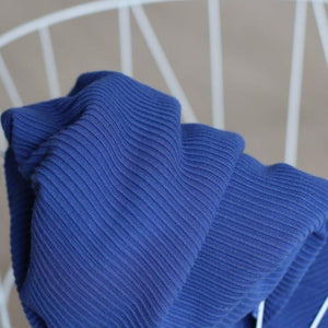 Meet MILK - Self Stripe Ottoman Knit Lapis