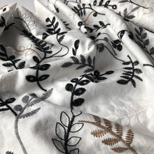 Fantasy Leaves White Cotton Broderie Anglaise