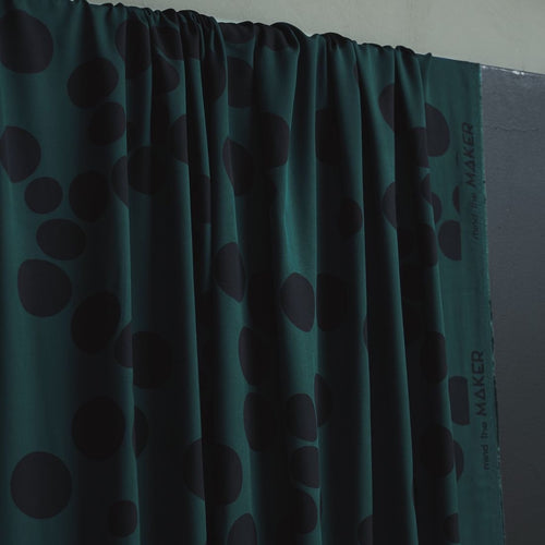 Mind The MAKER - About a Dot Bottle Green ECOVERO™ Viscose Twill Fabric