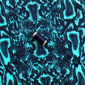 Danish Design - Snakeskin Turquoise Rayon Dress Fabric