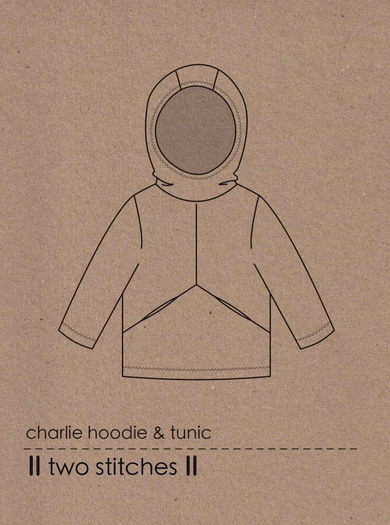 Two Stitches - Charlie Hoodie and Tunic Sewing Pattern 6 months - 9 years