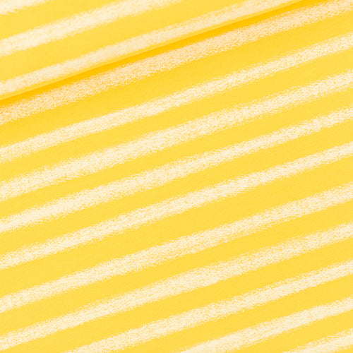 See You At Six - Chalk Stripes Yellow French Terry
