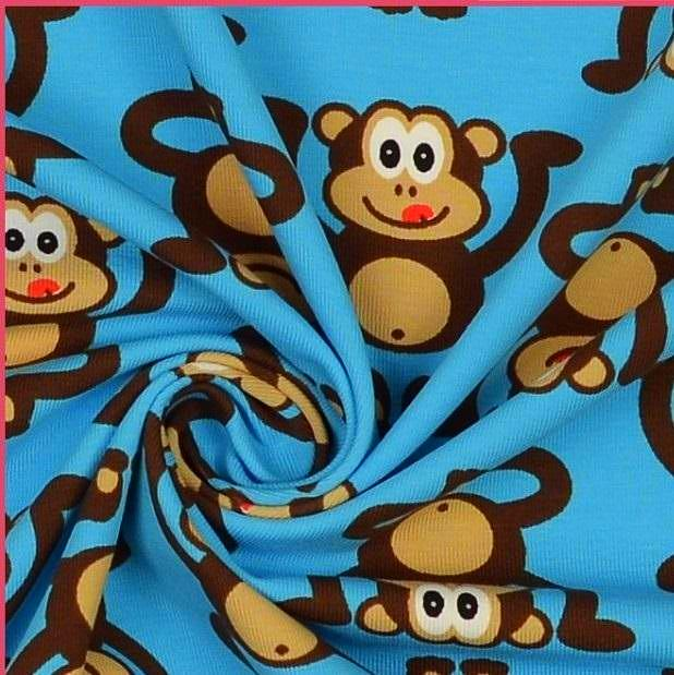 Cheeky Monkeys Cotton Jersey