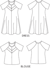Papercut Patterns - Clover Dress and Blouse Sewing Pattern
