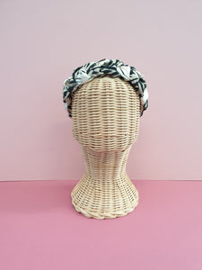 Adornments By Rosheen - Mind the Maker Zebra Viscose & Atelier Brunette Chalk Off White Cotton Cambric Mixed Plait Headband