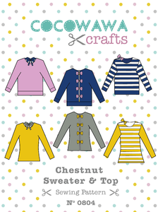Cocowawa Crafts CHESTNUT SWEATER AND TOP Sewing Pattern