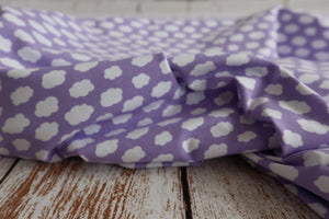 Danish Design - In The Clouds Lilac Cotton Jersey Fabric