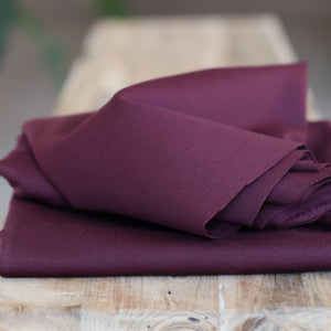 Meet MILK - Solid Ponte Knit in Maroon with TENCEL™ fibres