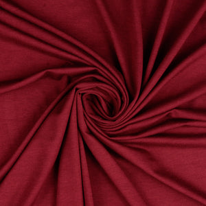 REMNANT 1.86 meters Inspire Burgundy Solid Viscose Jersey