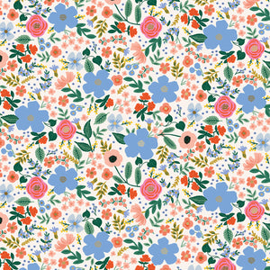 Rifle Paper Co - Wild Rose Cream Metallic Cotton from Primavera