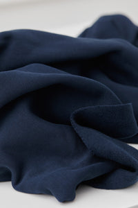 REMNANT 1.76 metres Mind The MAKER - Organic Brushed Sweat Indigo Night 180cm wide