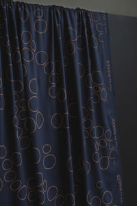 Mind The MAKER - Circle Around Indigo Night ECOVERO™ Viscose Twill Fabric