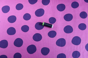 Danish Design - Purple Dots Looped Back French Terry
