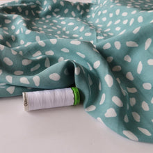 Petal Mint Green Viscose / Rayon Dress Fabric