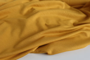 Allure Mustard Yellow Organic Bamboo Single Knit Jersey