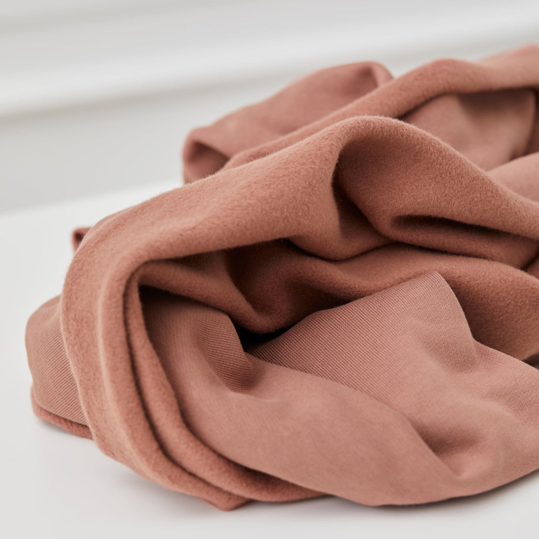 Mind The MAKER - Organic Brushed Sweat Old Rose 180cm wide