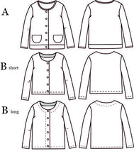 Vic Mum Cardigan - 34/46 - Paper Sewing Pattern