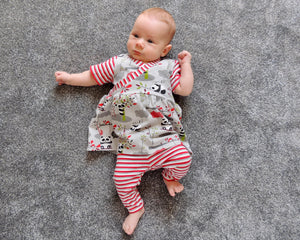 Dhurata Davies - Flow Dress and Riley Leggings (Newborn - 24 months) - Paper Sewing Pattern