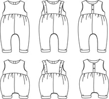 Ikatee - MADRID Jumpsuit - Playsuit  - (Unisex) Ages  6-24 Months 3-4 Years  Paper Sewing Pattern