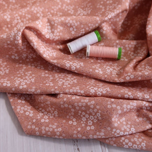 Danish Design - Ditsy Flowers Pink Organic Cotton Jersey Fabric