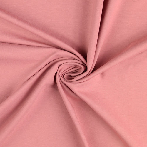 Essential Chic Rose Cotton Jersey Fabric
