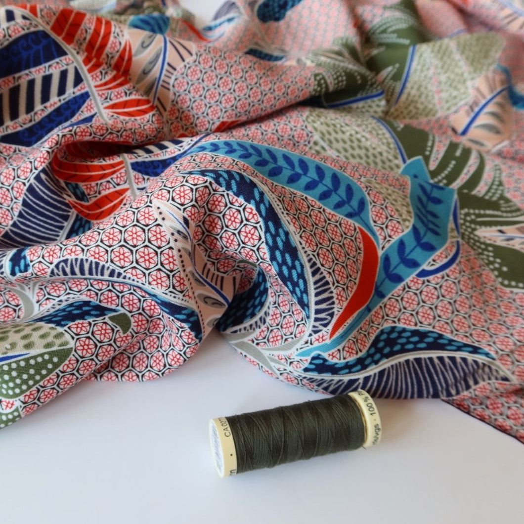 Tropical Summer Viscose Rayon Dressmaking Fabric