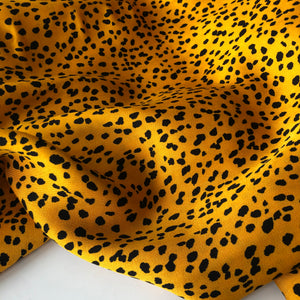 Speckles Amber Viscose / Rayon Dress Fabric