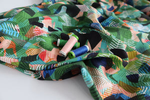 Paper Jungle from Circle Lines Rayon Fabric