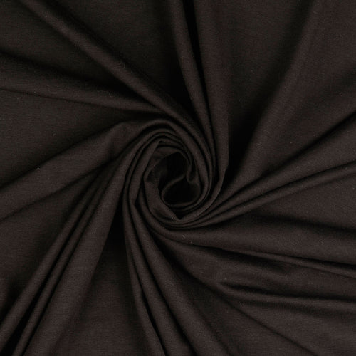 Inspire Black Solid Viscose Jersey Fabric