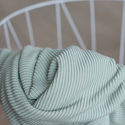 Meet MILK - Self Stripe Ottoman Knit Soft Mint