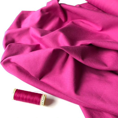 Essential Chic Soft Magenta Cotton Jersey Fabric