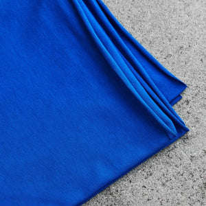 Intense Blue Organic Single Stretch Jersey