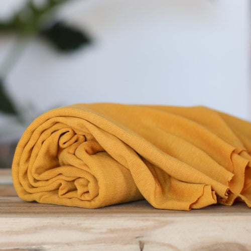 Meet MILK - Fine Rib Jersey Amber with TENCEL™ fibres