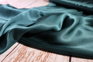 REMNANT 1.70 meters Elegance Pine Green Viscose Satin Fabric