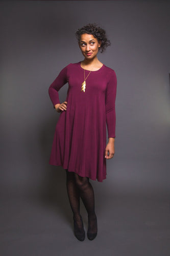 Closet Core - Ebony Knitt Dress and T- Shirt Sewing Pattern
