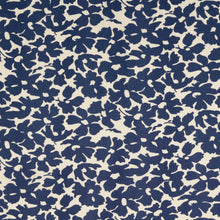 Summer Field Navy Viscose Poplin Fabric