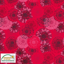 Danish Design - Sunflowers Red Cotton Jersey Fabric