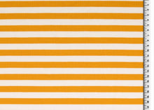 Yellow Stripes Looped Back Cotton French Terry
