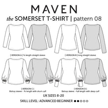 Maven Sewing Patterns - The Somerset T-shirt